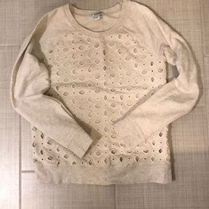 2/$15 Old Navy Eyelet Crew Sweatshirt Sz Small